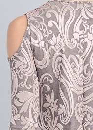 Detail back view Shimmer Paisley Top