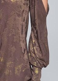 Alternate View Cold Shoulder Shimmer Dress
