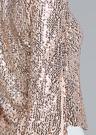 Detail back view Sequin Mock Neck Top