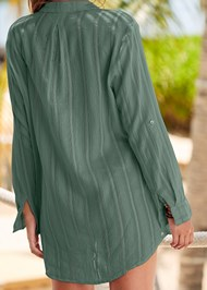 Alternate View Button Down Shirt Cover-Up