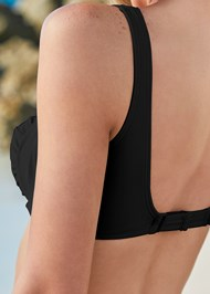 Detail back view Jessie Underwire Enhancer Top