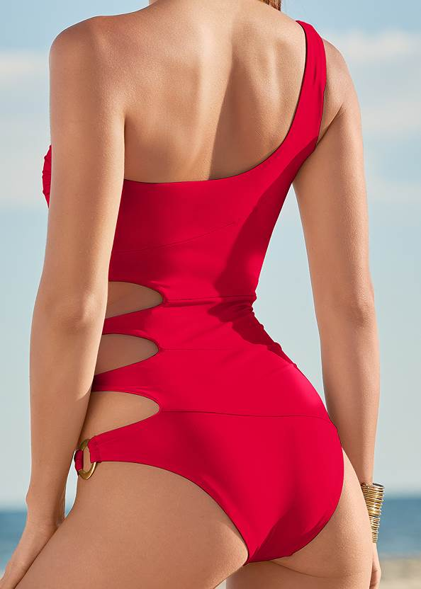 Alternate View One-Shoulder Ring One-Piece