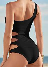 Alternate View One Shoulder Ring One-Piece
