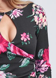 Alternate View Floral Print Keyhole Dress