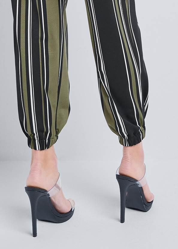 Alternate View Belted Stripe Jumpsuit