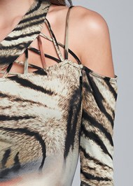 Detail front view Animal Print Strappy Top