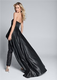 Full back view Overlay Embellished Jumpsuit