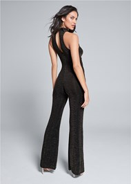 Back View Shimmer Jumpsuit