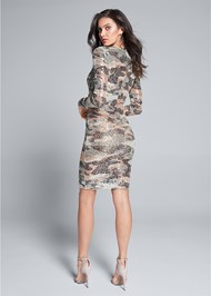 Back View Sequin Camo Dress