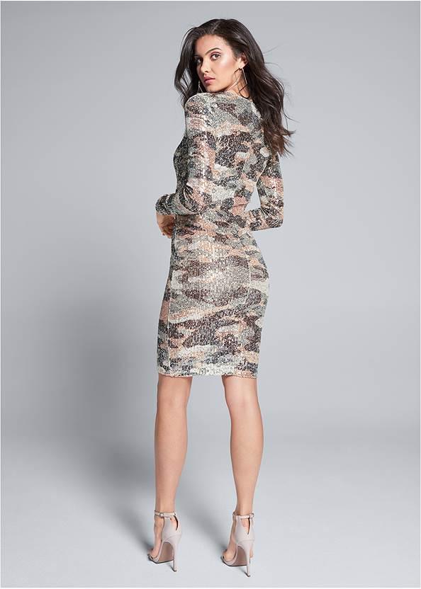 Back View Sequin Camo Dress