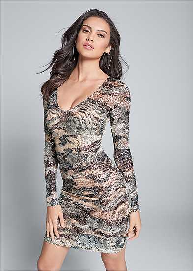 Sequin Camo Dress