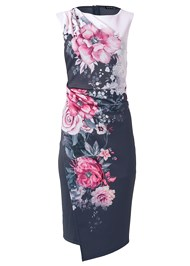 Alternate View Floral Printed Midi Dress