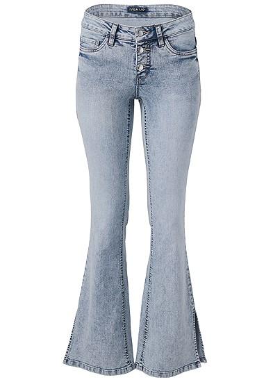 Plus Size Slit Detail Bootcut Jeans