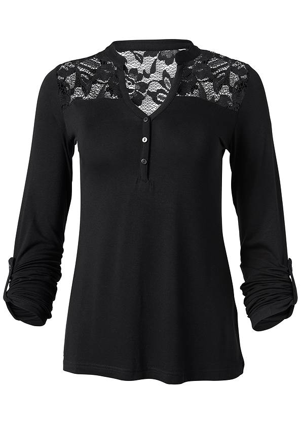 Alternate View Lace Detail Henley