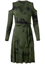 Alternate View Faux Wrap Tie Dye Dress