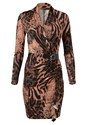 Alternate View Animal Print Ruched Dress