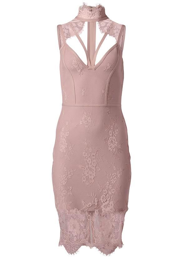 Alternate View Lace Detail Bandage Dress