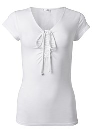 Alternate View Ruched Casual Top