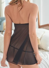 Detail back view Open Front Babydoll