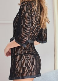 Alternate View Geo Print Sheer Robe