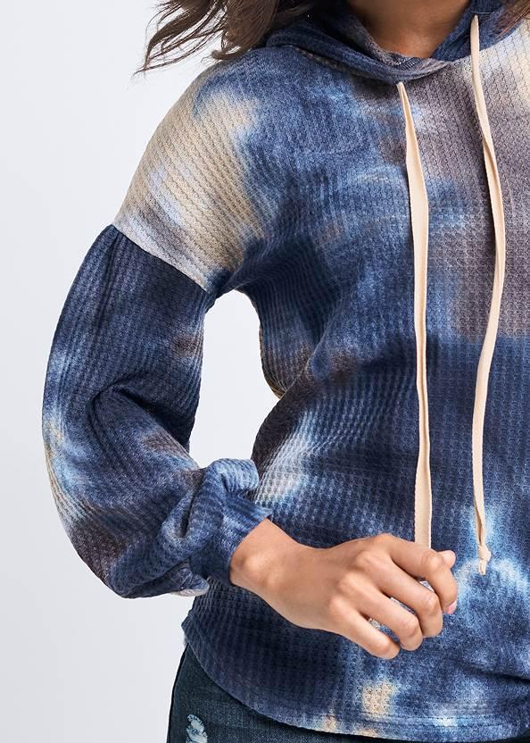 Alternate View Tie Dye Waffle Knit Top