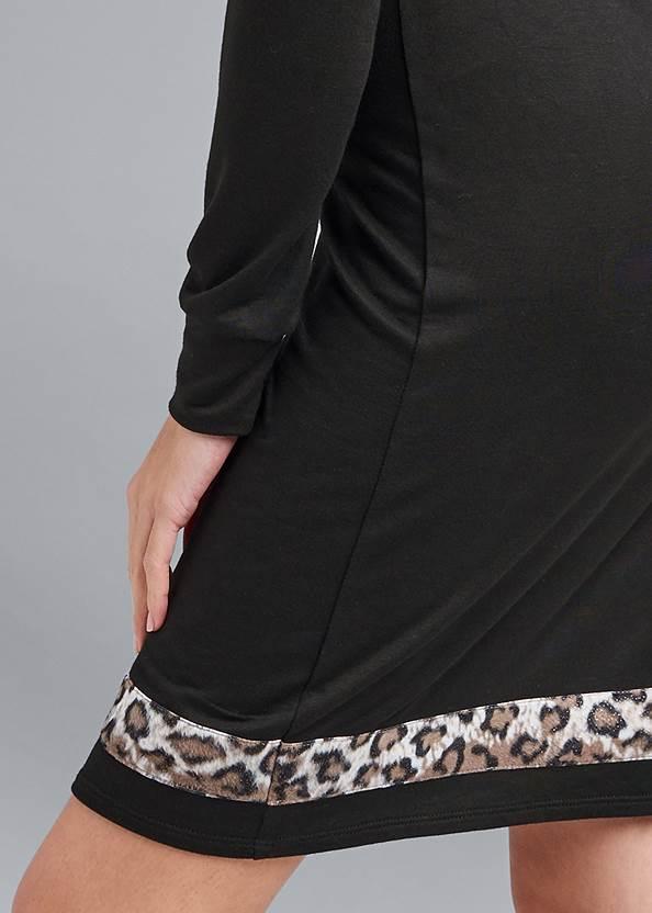 Alternate View Leopard Detail Lounge Dress