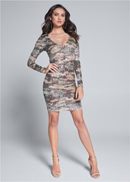 Alternate View Sequin Camo Dress
