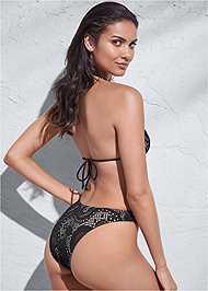 Full back view Sports Illustrated Swim™ High Leg Bottom