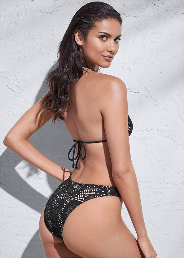 Full back view Sports Illustrated Swim™ Long Triangle Top