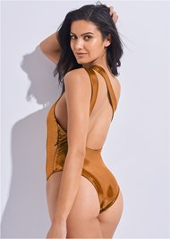 Back View Sports Illustrated Swim™ Asymmetrical Ring One-Piece