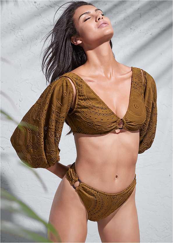 Sports Illustrated Swim™ Detachable Sleeve One-Piece