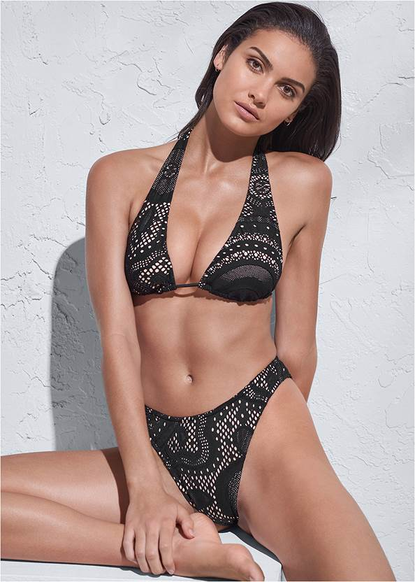 Sports Illustrated Swim™ Long Triangle Top,Sports Illustrated Swim™ High Leg Bottom,Sports Illustrated Swim™ Low Rise Brief Bottom,Sports Illustrated Swim™ Tie Side String Bottom,Sports Illustrated Swim™ Cheeky Short,Sports Illustrated Swim™ Cut Out Sides Bottom