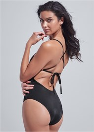 Back View Sports Illustrated Swim™ Necklace One-Piece