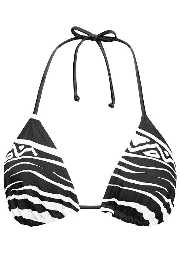 Ghost with background front view Triangle String Bikini Top