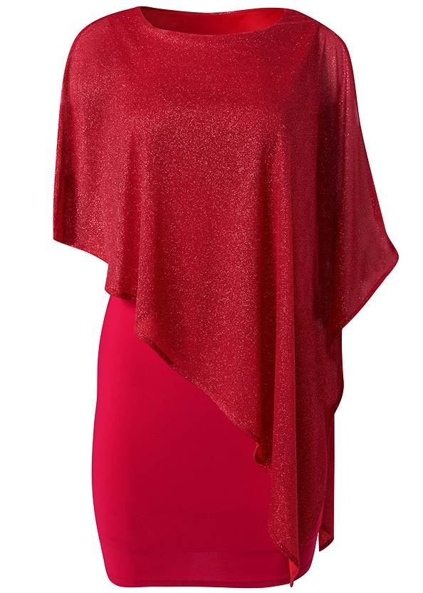 Ghost with background  view Cold Shoulder Overlay Dress
