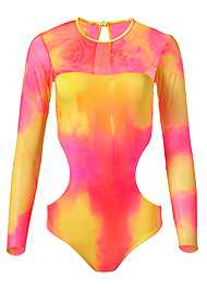 Ghost with background  view Sports Illustrated Swim™ Mesh Long Sleeve One-Piece