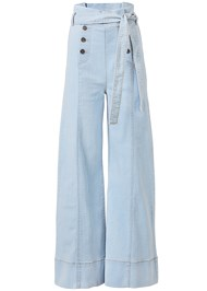 Ghost with background  view Flare Leg High Waist Jeans