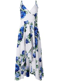 Ghost with background  view High Low Floral V-Neck Dress