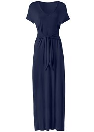 Ghost with background  view Tie Front V-Neck Maxi Dress