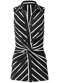 Ghost with background  view Striped Knot Twist Top
