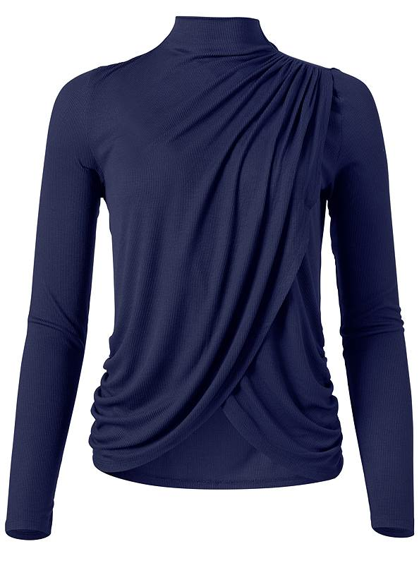 Ghost with background  view Ribbed Mock Neck Top