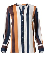 Alternate View Striped Blouse