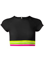 Ghost with background  view Neon Banded Rash Guard Top
