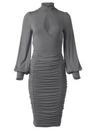 Alternate View Ruched Surplice Dress