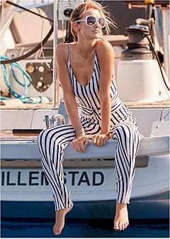 striped jumper cover-up