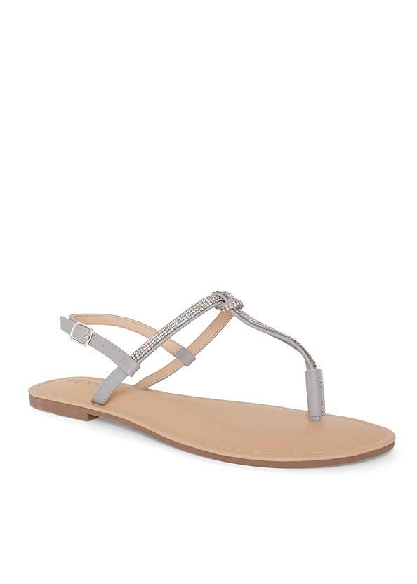Rhinestone Thong Sandals,Square Neck Tank Top,Denim Overalls,Tassel Hoop Earrings