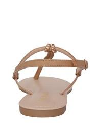 Shoe series back view Rhinestone Thong Sandal