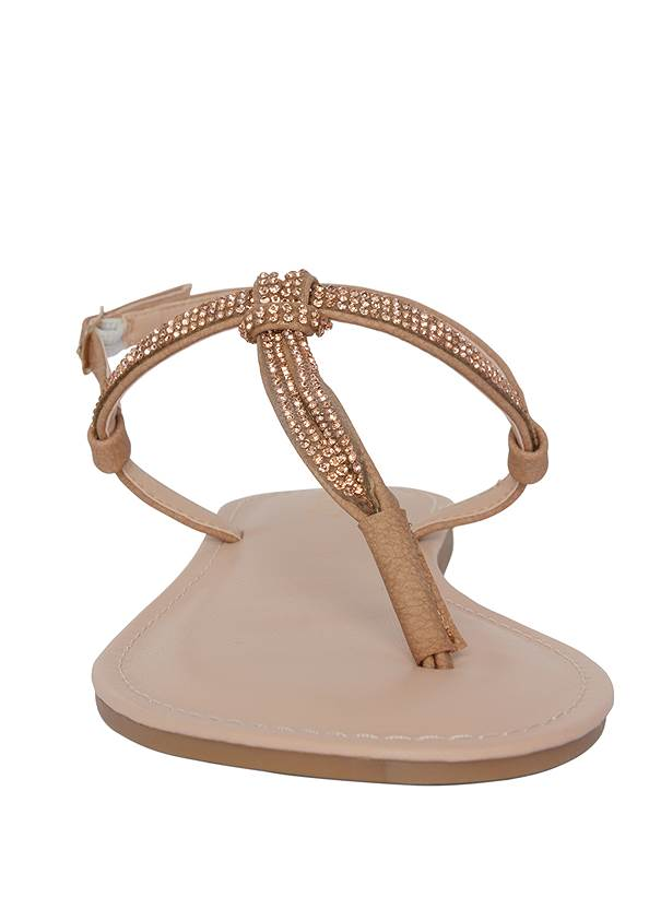 Shoe series front view Rhinestone Thong Sandals