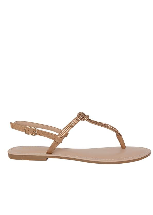 Shoe series side view Rhinestone Thong Sandals