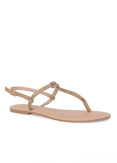 rhinestone thong sandal